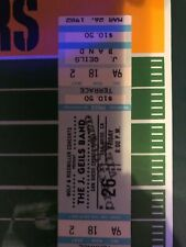 Original 1982 U2 J. Geils Band Unused Full Concert Ticket October Tour San Diego