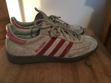 Adidas Spezial Handball Trainers Size 9.5 Beige Grey Red Vintage Skate Suede