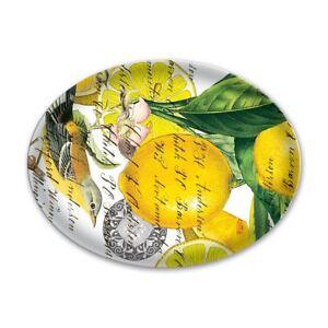 Michel Design Works Glass Trinket / Soap Dish Lemon Basil - NEW