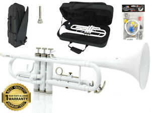 D'Luca 500 Series White Bb Trumpet with Case & 1 Year Manufacturer Warranty