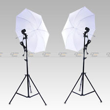 Continuous Lighting Kit E27 Bulb Lamp Umbrella Light Stand for Photo Studio