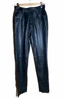 WILSON'S Maxima Leather Black Straight Leg Genuine Leather Pants Size 4