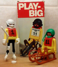 Vintage 1976 PLAY BIG #5825 #5834 Rennrodler Winter Olympic Games Playmobil Syle
