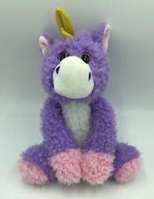 Fiesta Unicorn Stuffed Animal Purple Soft Plush Fuzzy Glitter Eyes I