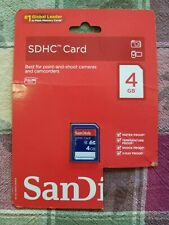 NEW! SanDisk 4GB Class 4 SD Flash Memory Card SDSDB-004G-A46 FACTORY SEALED
