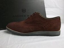 Andrew Marc Size 10 M Rockwood Oxblood Suede Oxfords New Mens Shoes