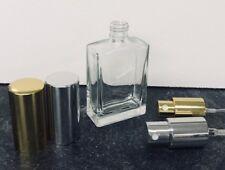 30ml Empty Glass Perfume Spray Bottle Rectangle Atomizer Refillable