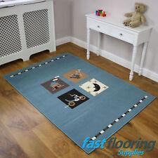 Kids 53 0516 Light Blue Rug *1.18 x 1.70* Childrens Bedroom Rug SALE *RRP £45*