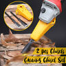 2PCS Pro Wood Chisel Carving Set Hand Tool For Woodworking Angle Grinder NEW