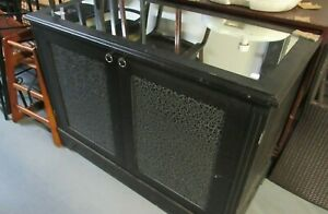 Channels of Chelsea Dark Wood Cabinet Faux Snake Skin Doors Mirrored Top 3 Suede