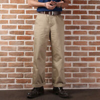 Bronson Repro 1942 Khaki Chino WW2 US Army Men's Trousers Military Casual Pants
