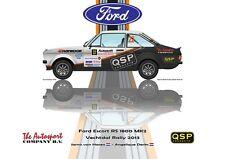 Print on Canvas QSP Ford Escort RS 1800 MK2 #22 van Haren Derks Vert. 40 x 30
