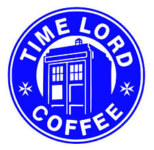 Dr Who Comedy - Blue & White Decal / Sticker
