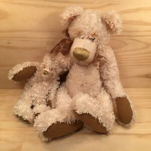 "MOTHER & BABY BEAR ""Beige"" Beautiful Cuddly Teddy Bear Soft Toy Friend (Oswald)"
