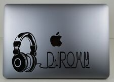 Personalized Headphones 270mm Vinyl Sticker/Musicl/ iPad/laptop/ recordings/DJ