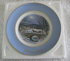 "Avon 1979 Christmas Plate ""Dashing Through the Snow"" 7th Edition Wedgewood."