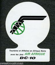 DC-10 AIR AFRIQUE STICKER - Tourisme et Affaires en afrique Noire avec les Jets