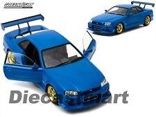 GREENLIGHT 1:18 1999 NISSAN SKYLINE GT-R (R34) BLUE DIECAST MODEL CAR 19032 NIB
