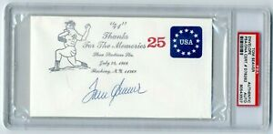 Tom Seaver Autographed Signed Shea Stadium #41 Thanks Envelope PSA/DNA Slabbed