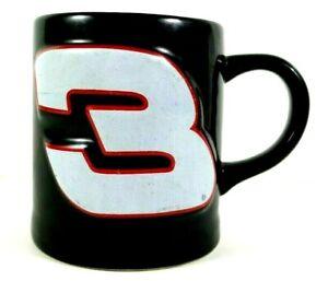 Dale Earnhardt Black #3 Mug 10 Ounce 3D NASCAR with Red Trim Raised