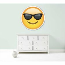 Emoji sunglasses cool giant large vinyl wall car decal sticker 5 sizes bedroom