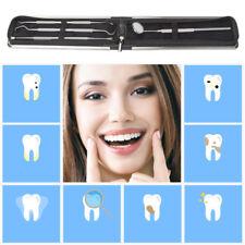 4er Dental aufhellen Zahnreinigung Zahnpflege set Spiegel Sonde Zähne