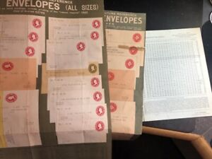 1907 Post Office Stamped Envelopes / Wrappers Price List & 2 Advert Posters