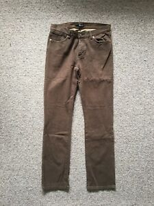 KR3W Men's Vintage K-Slims Brown Canvas Pant W34