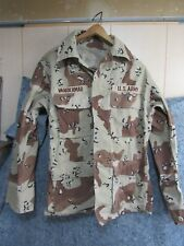 Navy Size Small BDU Coat Jacket Shirt Desert Camo US Army with Patches #11