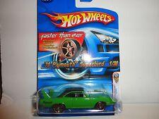 2006 Hot Wheels #1 Green '70 Plymouth Superbird w/FTE Wheels