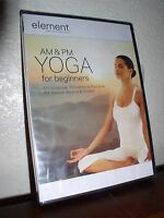 Element - The Mind & Body Experience - AM & PM Yoga for Beginners (DVD, 2008,NEW