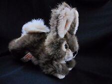 "KAMIK Bunny Riley the Rabbit Brown Cream Fur Plush Stuffed Animal 8"""