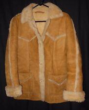 Vtg. Women's Shearling Coat Marlboro Woman Rancher Style Muton Size 10