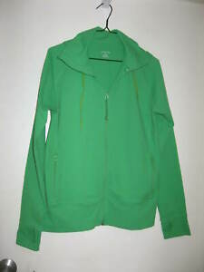 LANDS END GREEN ZIP UP HOODIE WITH POCKETS SIZE M 10-12