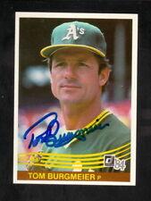 Tom Burgmeier--Autographed 1984 Donruss Baseball Card--Oakland Athletics