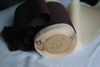 "1 yard of 4 1/4"" vintage cotton silk chocolate brown petersham ribbon hat dress"
