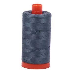 Aurifil Mako Cotton Thread 50 Weight 1422 Yard Spool Color 1158 Medium Grey