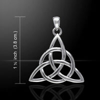 Trinity Triquetra .925 Sterling Silver Pendant by Peter Stone