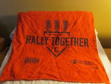 """Red Cleveland Indians Rally Together Towel 15""""x17"""" Postseason 2017"""