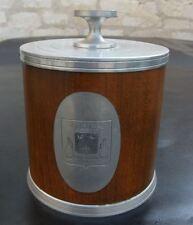 RARE seau à glaçons glace Grand Bboutelier Echanson étain et bois vintage