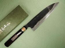 Japanese Sakai Genkichi Blue Steel Funayuki Gyuto Knife Blk Blade 210mm Kokutan