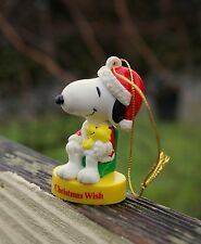 Snoopy Christmas Wish Santa Hat Woodstock Holiday Ornament Peanuts Charlie Brown