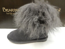 BEARPAW WOMENS BOOTS BOO CHARCOAL SIZE 8
