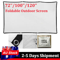 """Portable 120'' 100"""" 72"""" Projector Screen Home Theater 16:9 HD Foldable 1080P OZ"""