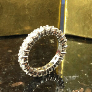 2.00 Ct Real Diamond Engagement Band For Her 14K White Gold Rings Size M N O P Q