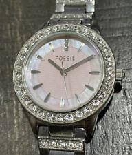 FOSSIL ES2189 Women Stainless Steel Analog Pink Dial Quartz Genuine Watch KG399