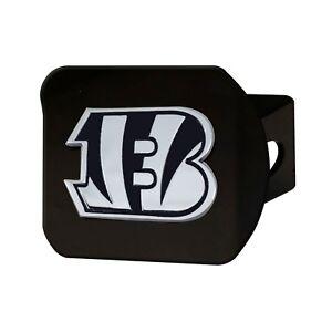 Fanmats NFL Cincinnati Bengals 3D Chrome on Black Metal Hitch Cover Del 2-4 Days