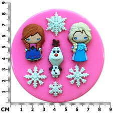 Anna Elsa Olaf Frozen Characters Silicone Mould by Fairie Blessings