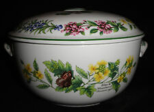 Elegant Royal Worcester Herbs Covered Cassarole Baking Dish dated 1990 •