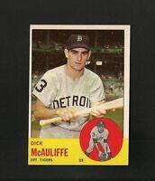 9189* 1963 Topps # 64 Dick McAuliffe Ex-Mt